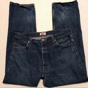 Levi's 501 Jeans Dark Wash Button Fly Mens 38 X 34